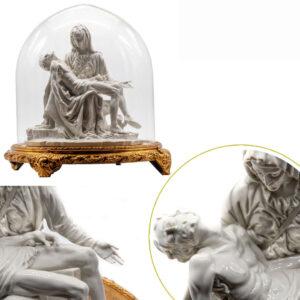 Scultura Pietá Lucida con Campana