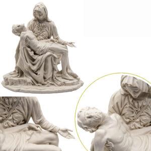 Scultura Pietá Bisquit senza Campana
